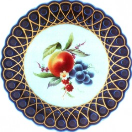 Meissen Peach and Grapes by Ruth Cooper