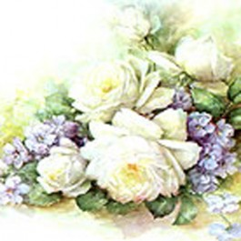 Large White Roses by Sonie Ames