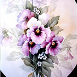 Pansies and Baby Daisies by San Do
