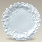 """Plate with Embossed Leaves, 10.25"""", SELECTED SECONDS"""
