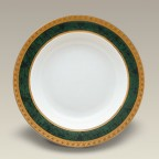 "9"" Malachite Rim Shaped Soup Bowl"