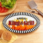 Personalized King of the Grill Platter, 16""