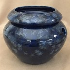 "6"" Blue Urn Shaped Self Watering Planter"