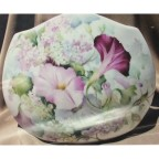 Morning Glories & Lilacs on Pillow Vase by Celee Evans