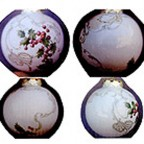 Holly and Scroll Christmas Ball by Celee Evans