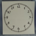 Clock Face Decal, Black, 6.75""