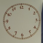 Clock Face Decal, Gold, 6.75""