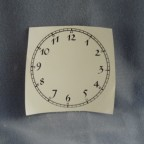 Clock Face Decal, Black, 3.5""