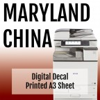 Printed Digital Decal Sheet, A3 Size