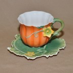 Pumpkin Decorated Cup & Saucer